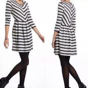 Puella Mitered Striped Knit Dress